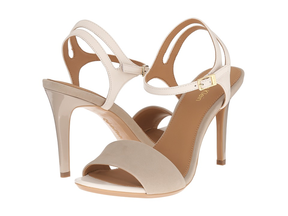 Calvin Klein - Nadina (Cocoon/Soft White Nubuck/Leather) High Heels