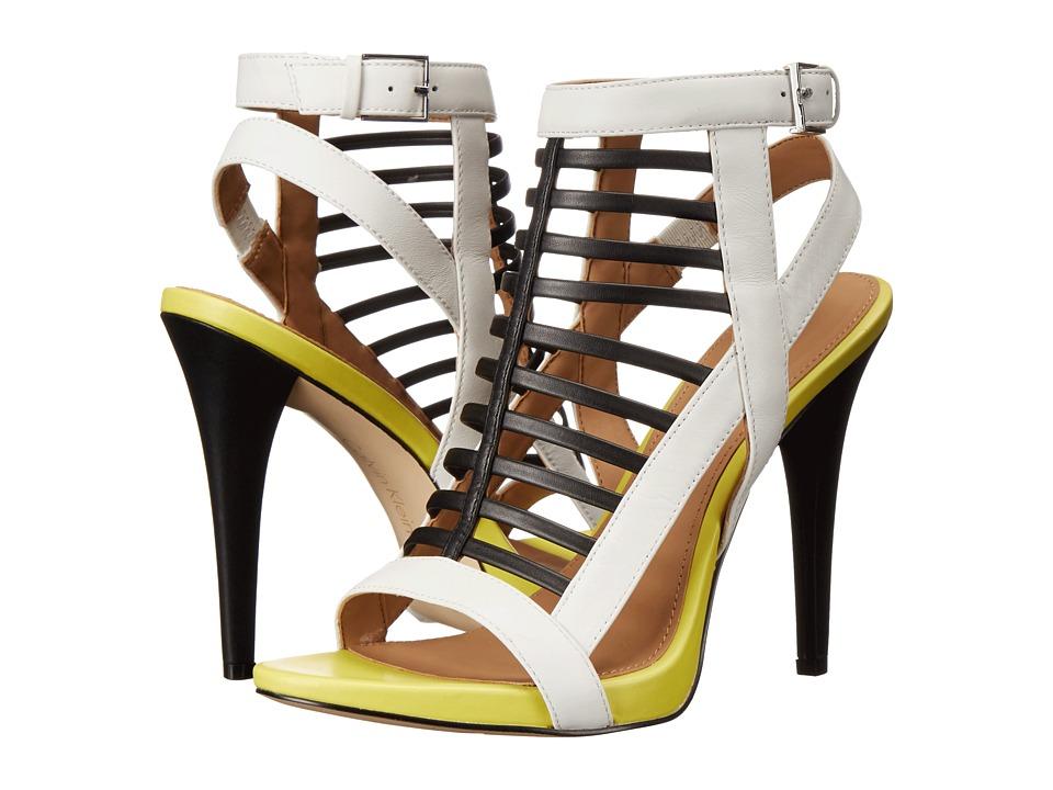 Calvin Klein - Nalo (Black/White/Lemon Leather) High Heels