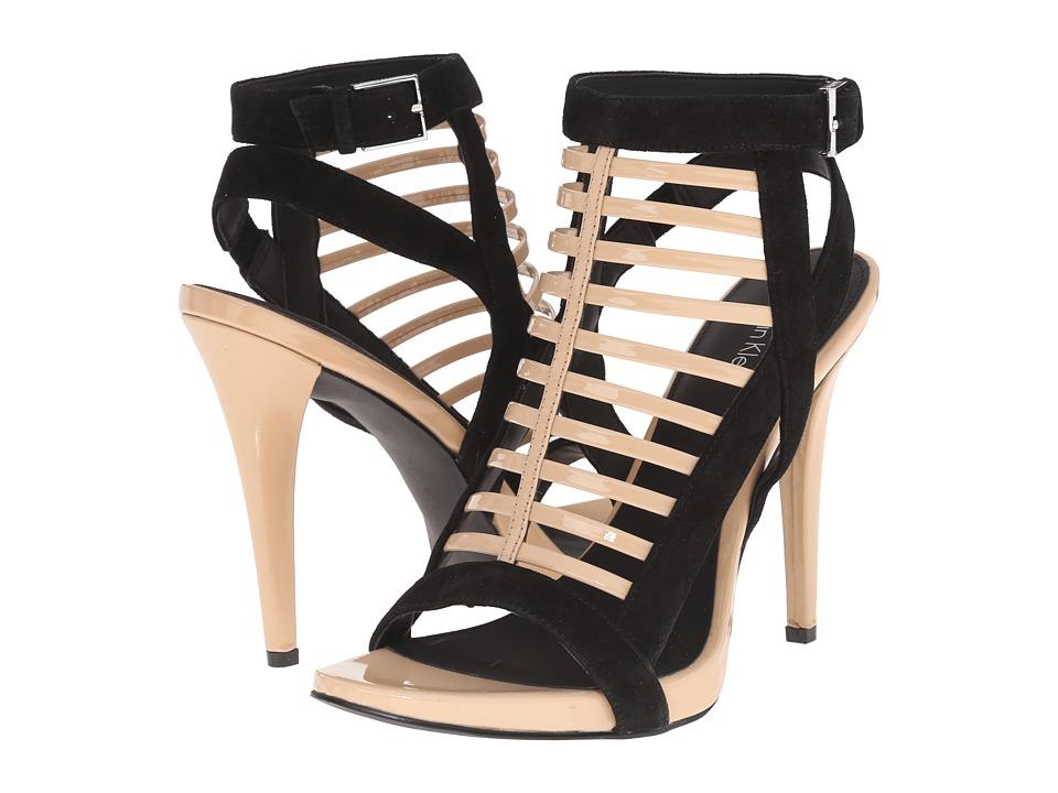 Calvin Klein - Nalo (Sandstorm/Black Patent/Suede) High Heels