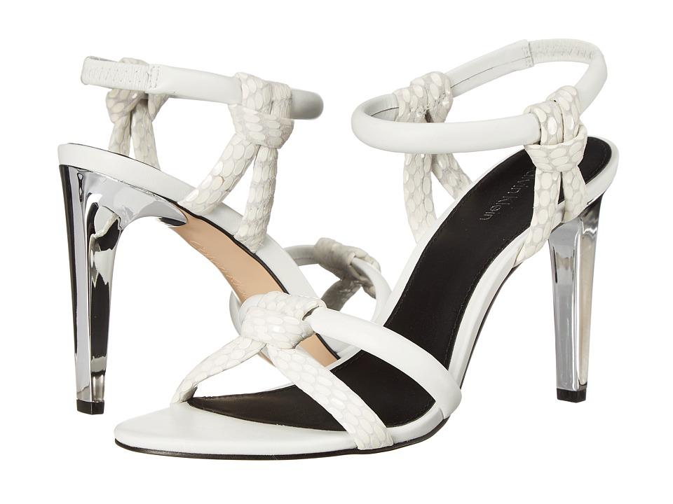 Calvin Klein - Naya (Platinum White Laquered Snake/Leather) High Heels