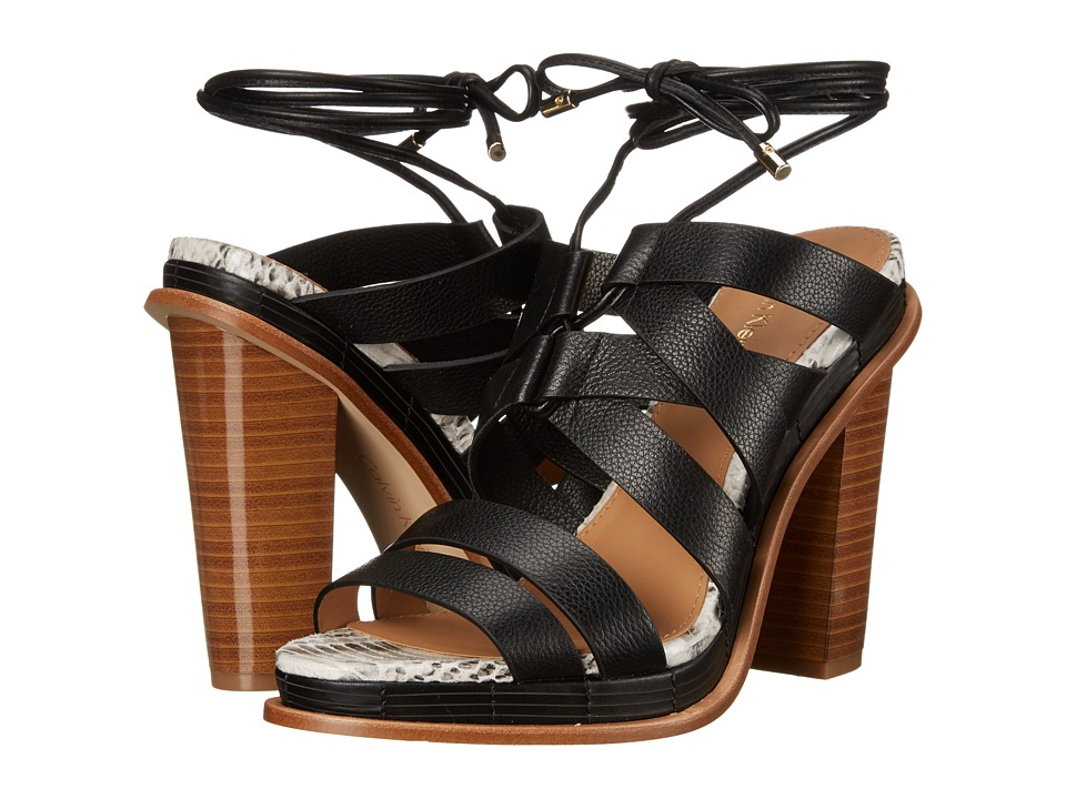 Calvin Klein - Panelope (Black Toscana Leather) High Heels