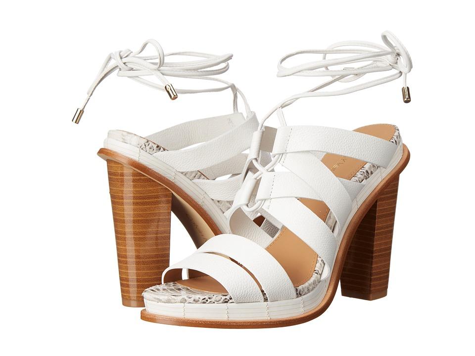 Calvin Klein - Panelope (Platinum WHite Toscana Leather) High Heels
