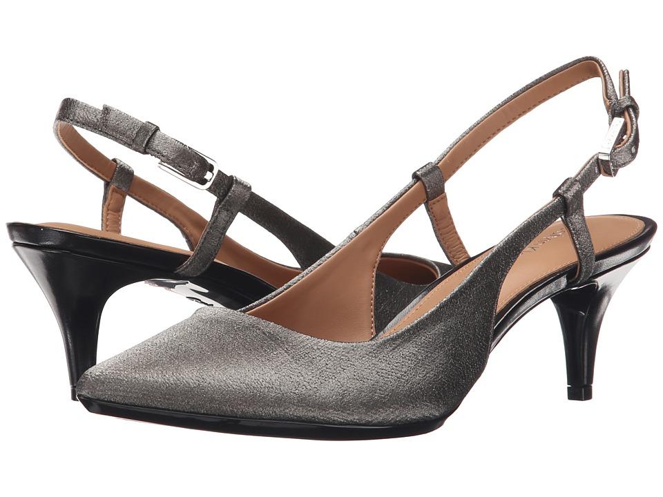 Calvin Klein - Patsi (Anthracite Coated Matte Linen) High Heels