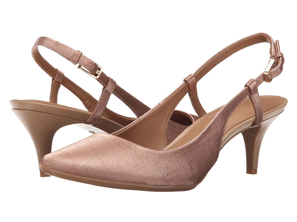 Calvin Klein - Patsi (Blush Nude Coated Matte Linen) High Heels