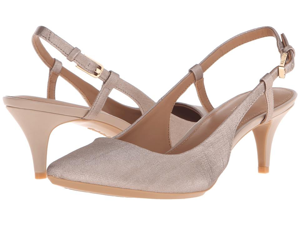 Calvin Klein - Patsi (Soft Platinum Coated Matte Linen) High Heels