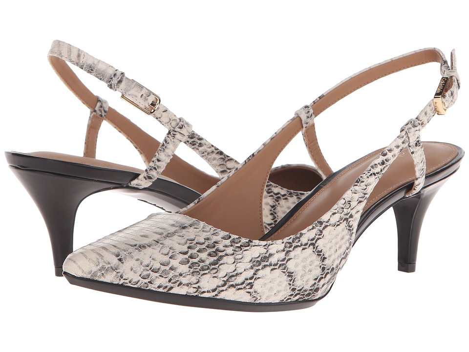 Calvin Klein - Patsi (Soft White Muted Snake Print Leather) High Heels