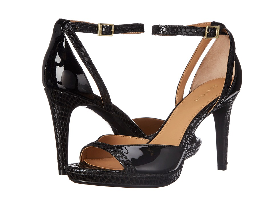 Calvin Klein - Persy (Black Patent/Laquered Snake) High Heels