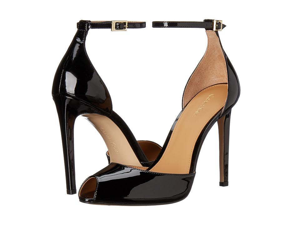 Calvin Klein - Sirena (Black Patent) High Heels