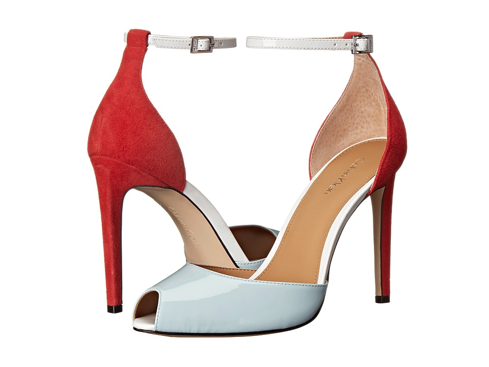 Calvin Klein - Sirena (Skylight/Red/White Patent/Kid Suede) High Heels