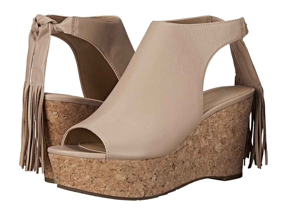 Marc Fisher LTD - Sueann (Beige Leather) Women's Wedge Shoes