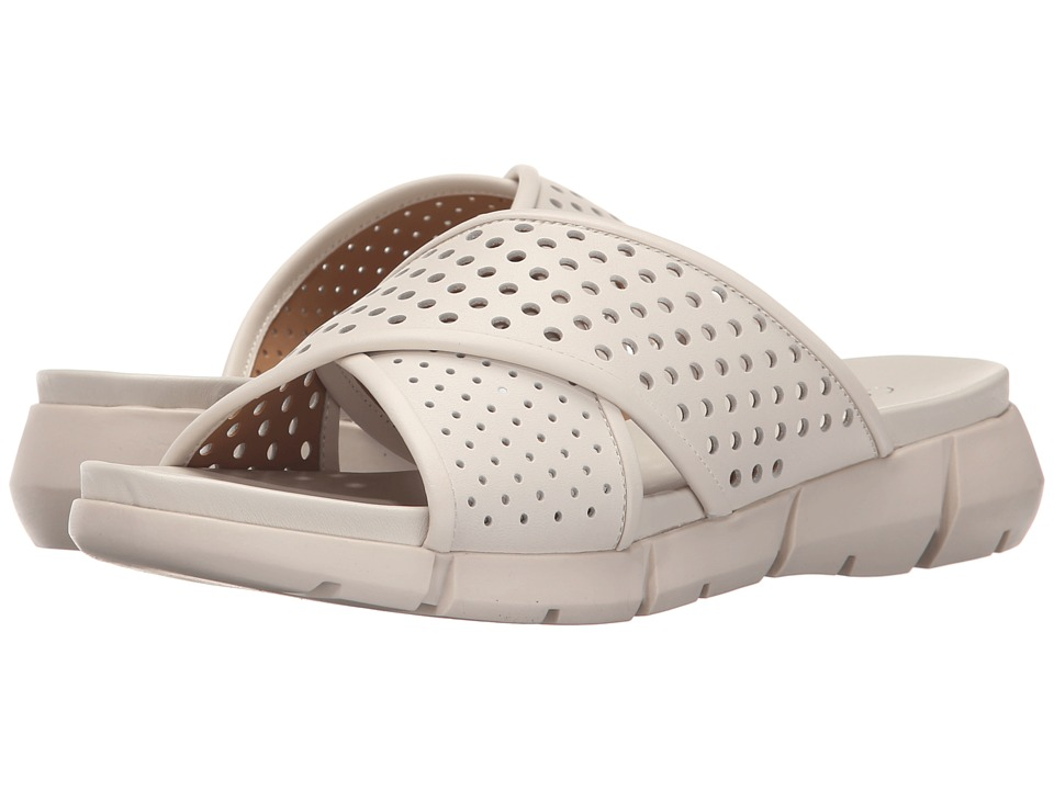 Calvin Klein - Whitley (Soft White Perfed Leather) Women's Slide Shoes