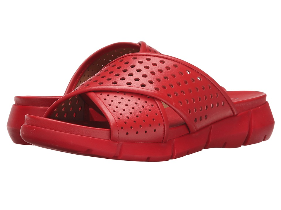Calvin Klein - Whitley (Lipstick Red Perfed Leather) Women's Slide Shoes