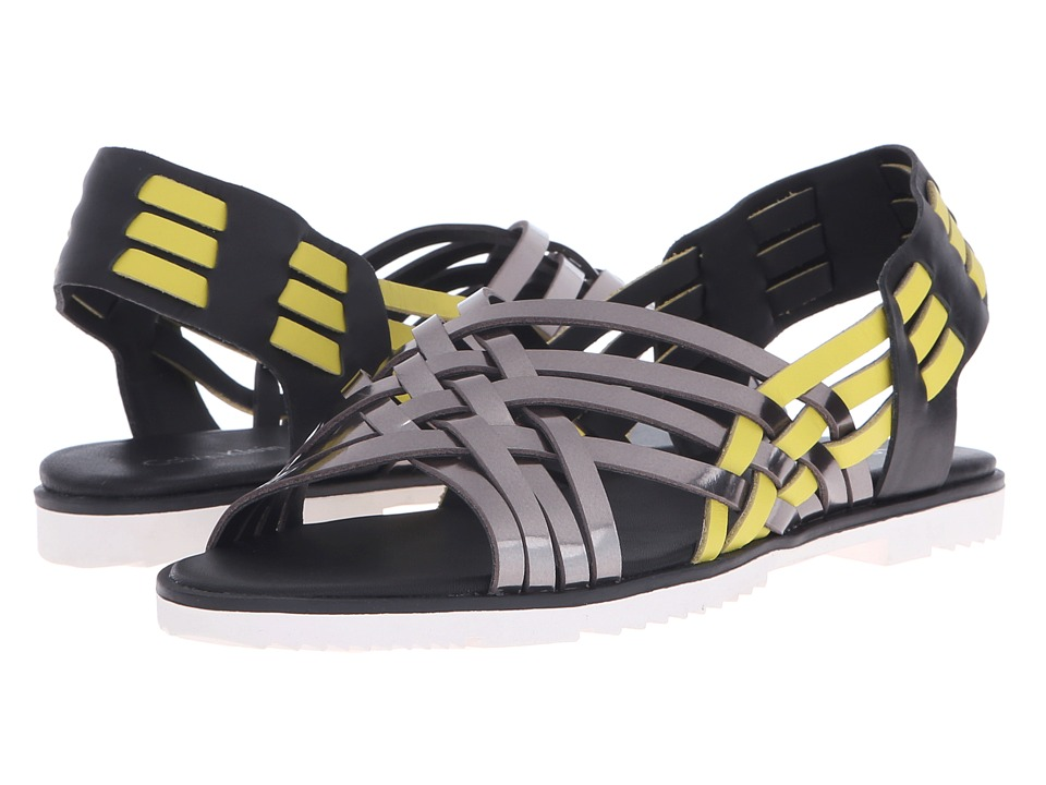 Calvin Klein - Mariana (Antracite/Laser Lemon/Black Metallic Box/Leather) Women's Flat Shoes