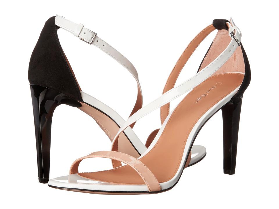Calvin Klein Narella (Sandstorm/White/Black Patent/Kid Suede) High Heels