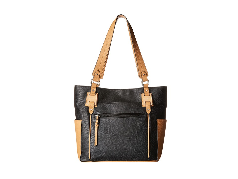 Rosetti - Kendall Double Handle (Black Two-Toned) Handbags