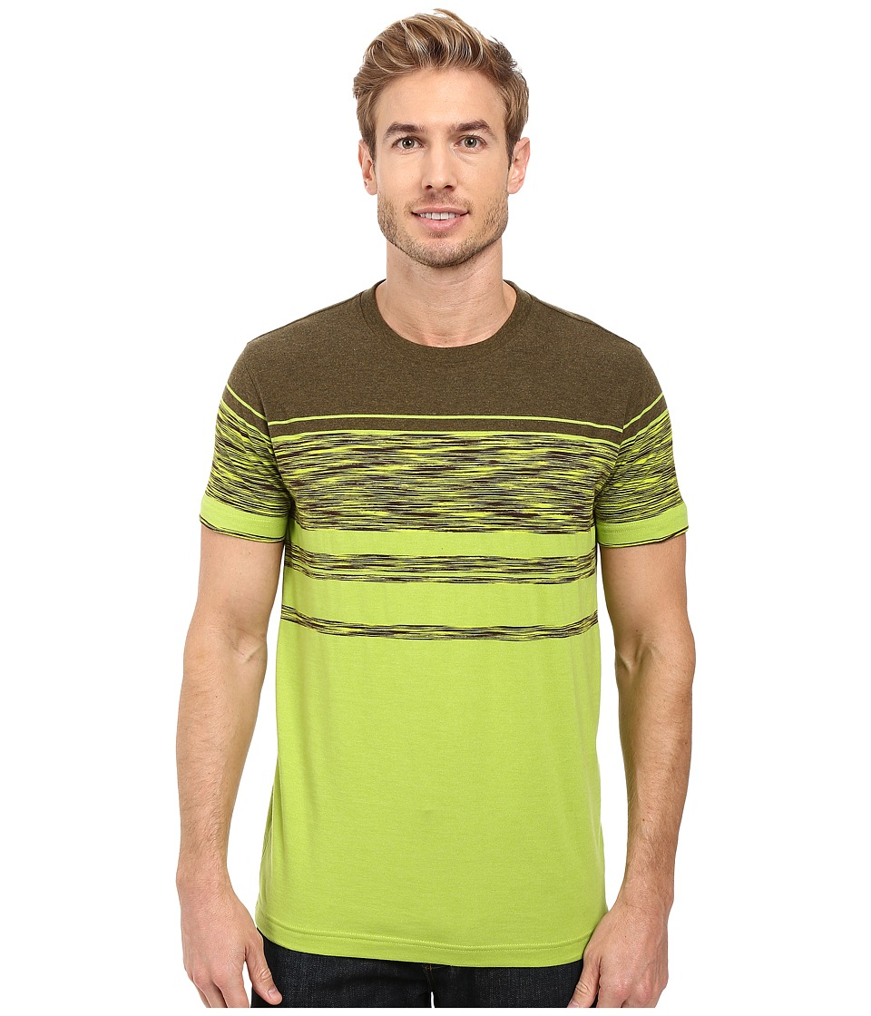 Prana - Throttle Crew (Macaw Stripe) Men's Short Sleeve Knit