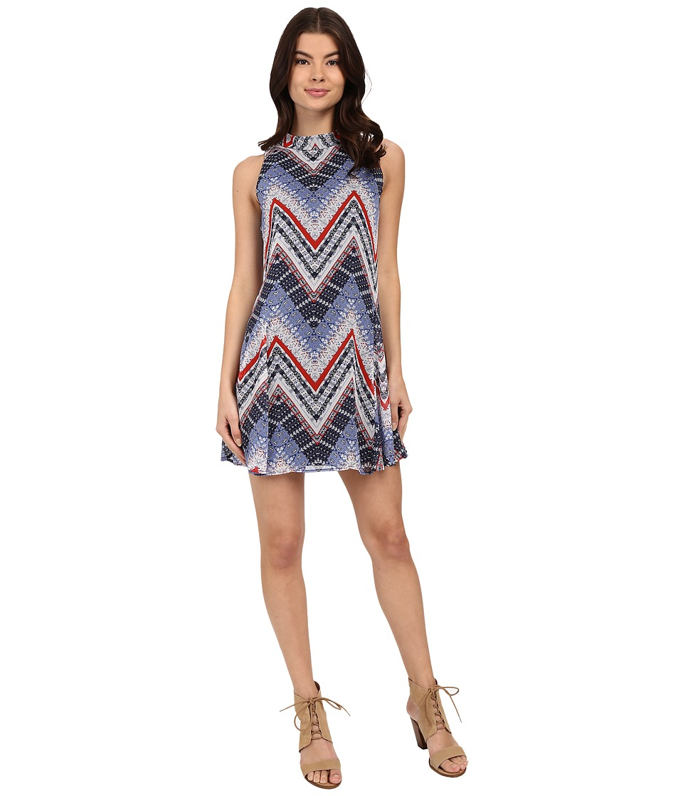 Brigitte Bailey - Yassmin Swing Dress (Navy/Chevron) Women's Dress