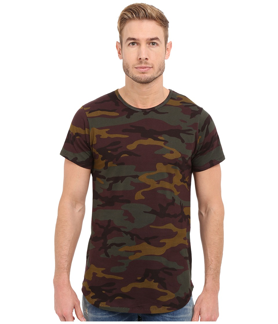 Rustic Dime - Long Tee with Zipper (Camo) Men's T Shirt