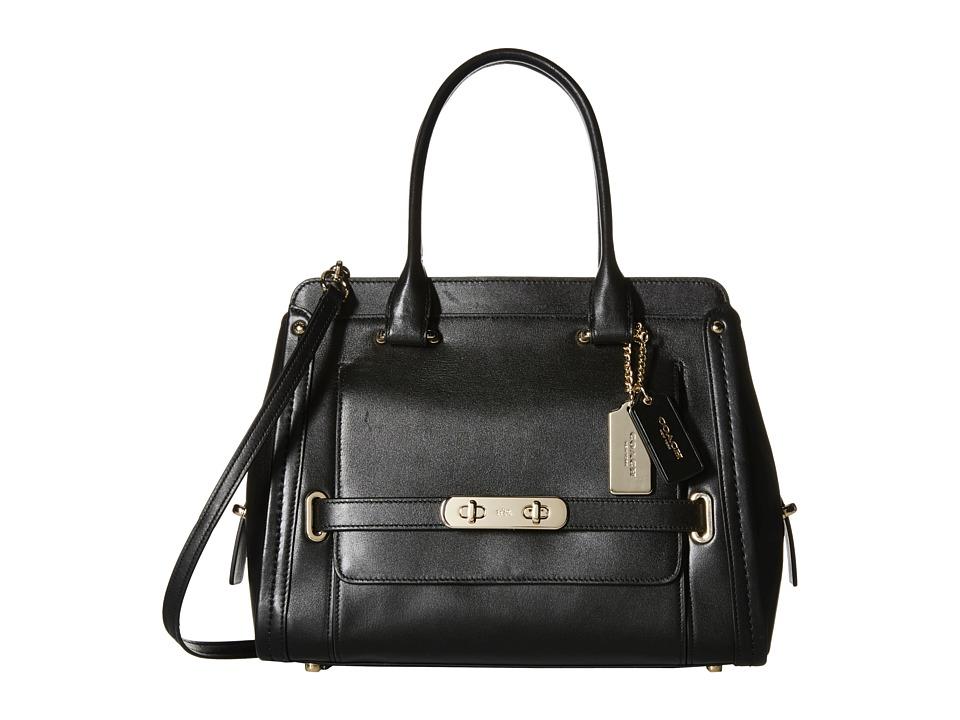COACH - Swagger City Satchel (LI/Black) Satchel Handbags