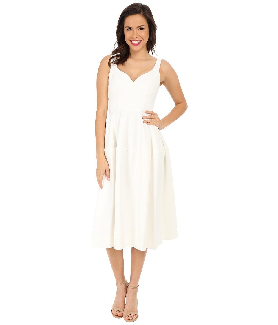 JILL JILL STUART - Midi Sweetheart Crepe Fit Flare (Off-White) Women's Dress
