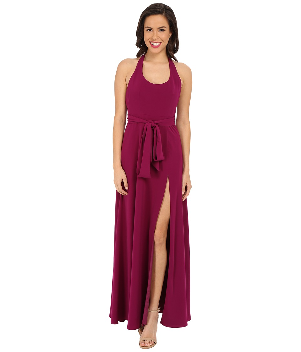 JILL JILL STUART - Sleeveless Scoop Neck T-Back Crepe Gown (Berry) Women's Dress