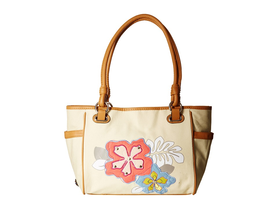 Rosetti - Savannah Garden Double Handle (Hibiscus Applique) Handbags