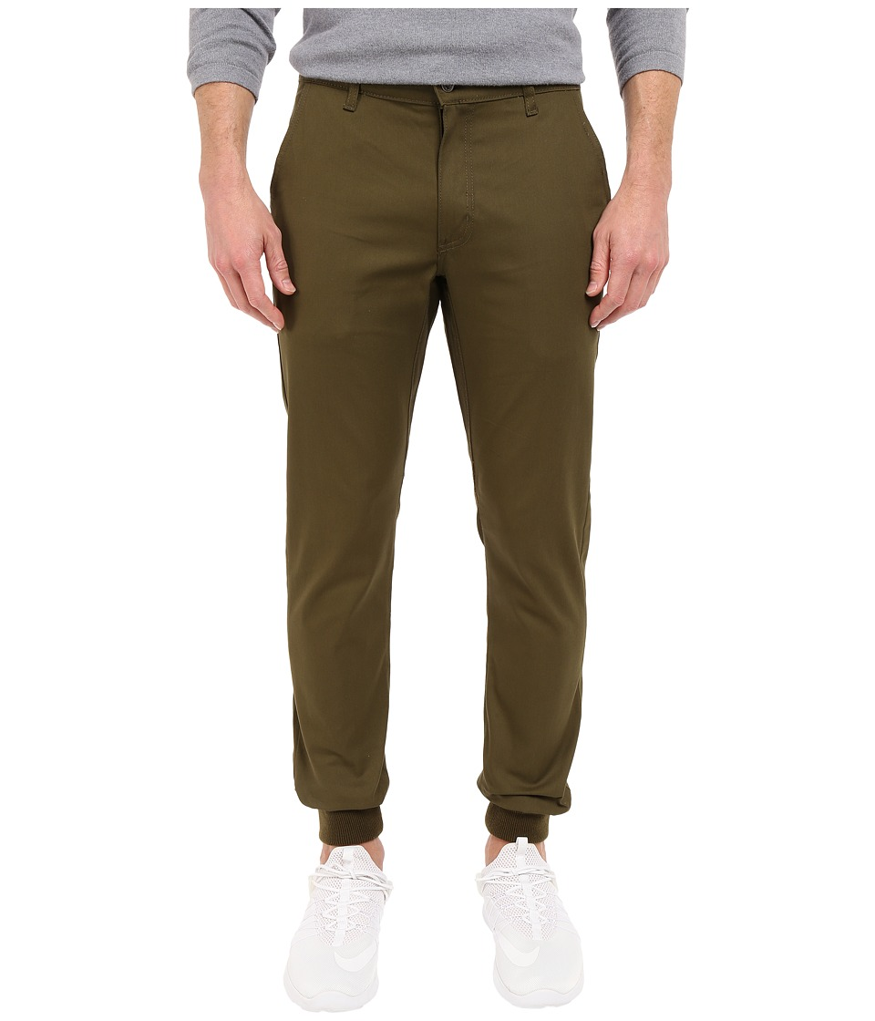 Rustic Dime - Sunset Jogger in Olive Stretch Twill (Olive Stretch Twill) Men's Casual Pants