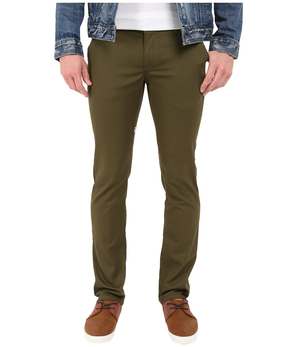 Rustic Dime - Chino Slim Fit in Olive Stretch Welt Pocket (Olive Stretch Welt Pocket) Men's Casual Pants