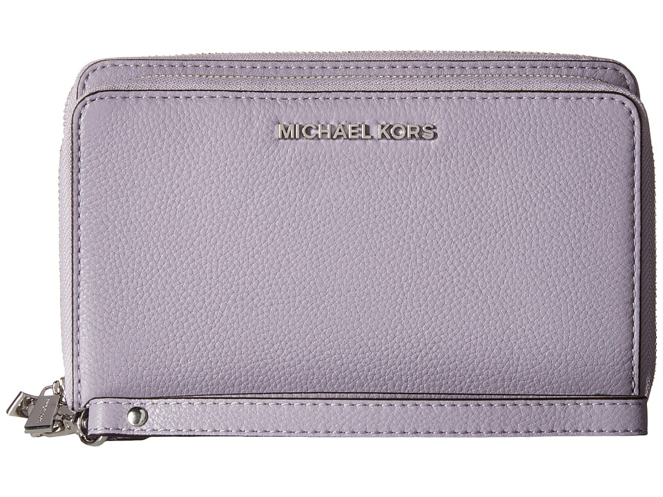 MICHAEL Michael Kors - Adele Large Flat Multifunction Phone Case (Lilac) Cell Phone Case