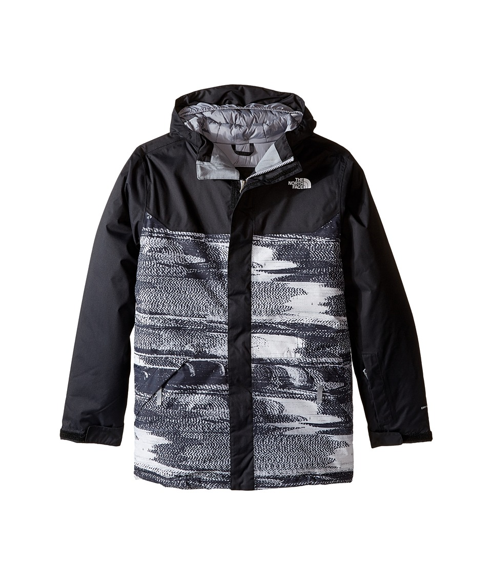 The North Face Kids - Brayden Insulated Jacket (Little Kids/Big Kids) (TNF Black Static Print) Boy's Coat