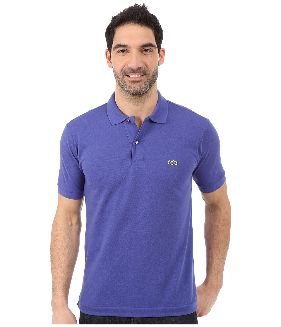 Lacoste - L1212 Classic Pique Polo Shirt (Periwinkle) Men's Short Sleeve Knit
