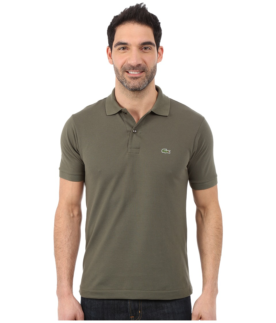 Lacoste - L1212 Classic Pique Polo Shirt (Uniform Kaki) Men's Short Sleeve Knit