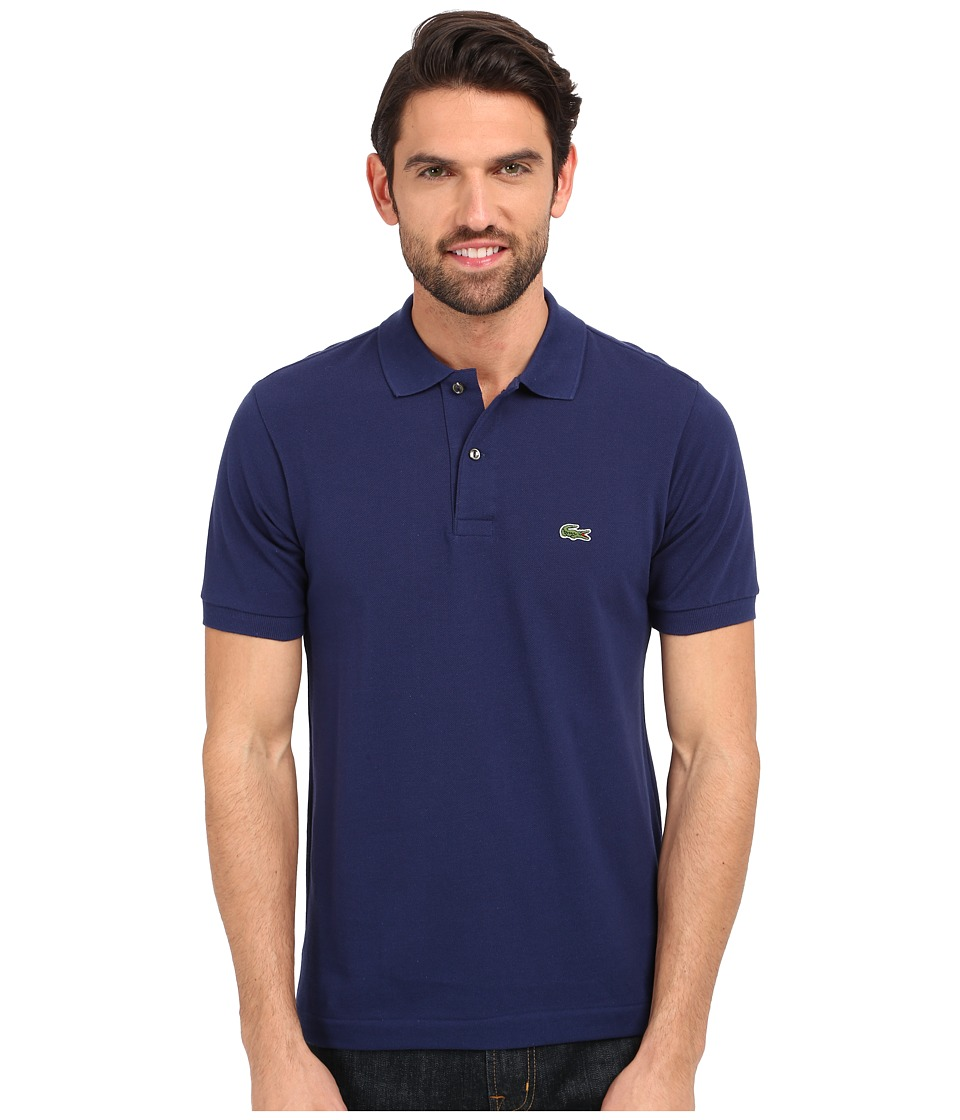 Lacoste - L1212 Classic Pique Polo Shirt (Deauville Blue) Men's Short Sleeve Knit