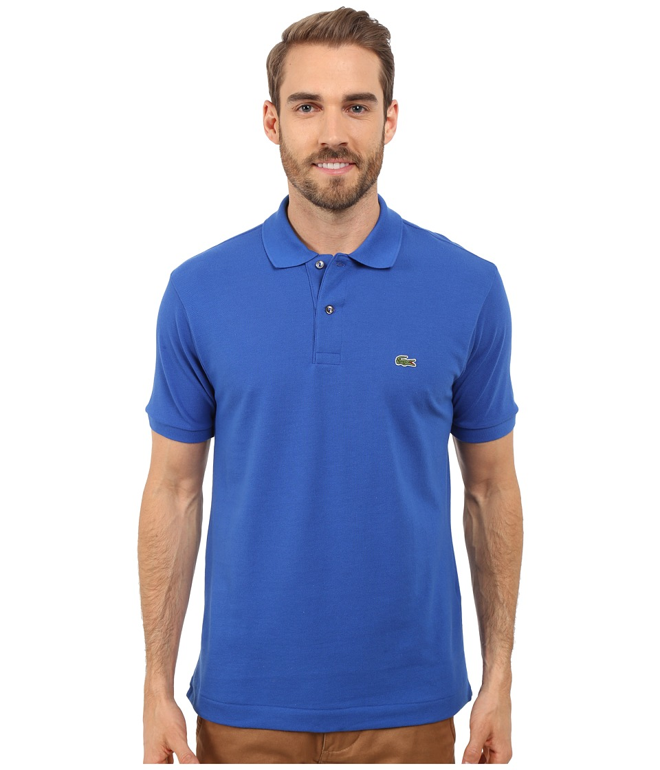 Lacoste - L1212 Classic Pique Polo Shirt (Delta Blue) Men's Short Sleeve Knit