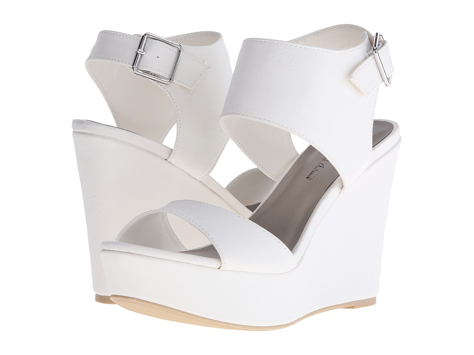 Michael Antonio - Andres (White) Women's Wedge Shoes