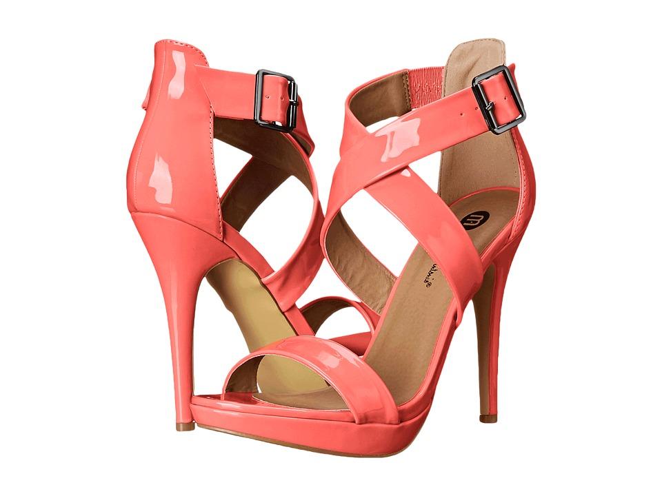 Michael Antonio - Luckey - Patent (Hot Peach) High Heels