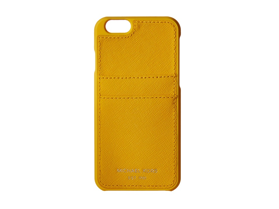 MICHAEL Michael Kors - Electronics Phone Cover w/ Pocket 6 (Sunflower) Cell Phone Case