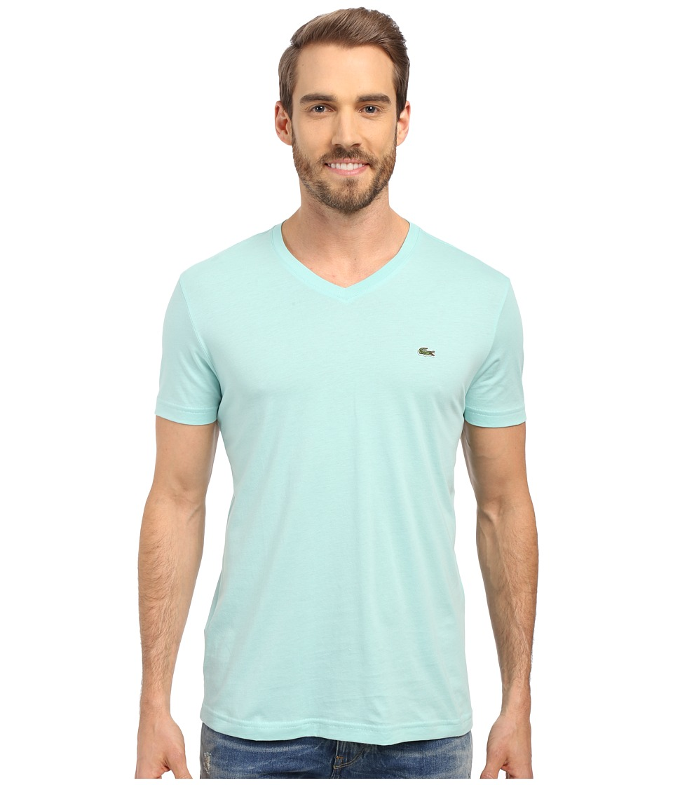 Lacoste - S/S Pima Jersey V-Neck T-Shirt (Galapagos) Men