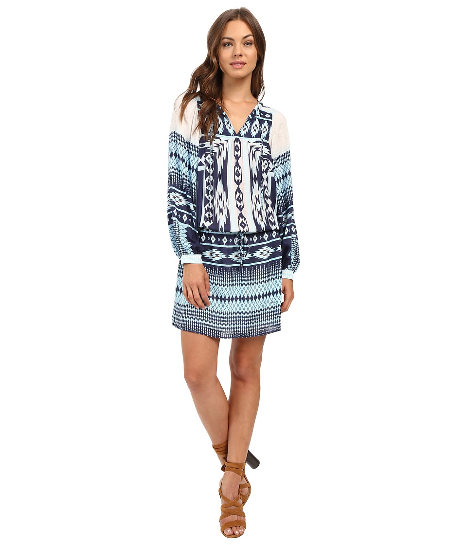 Hale Bob - The Bohemian Beat Blouson Dress (Blue) Women's Dress