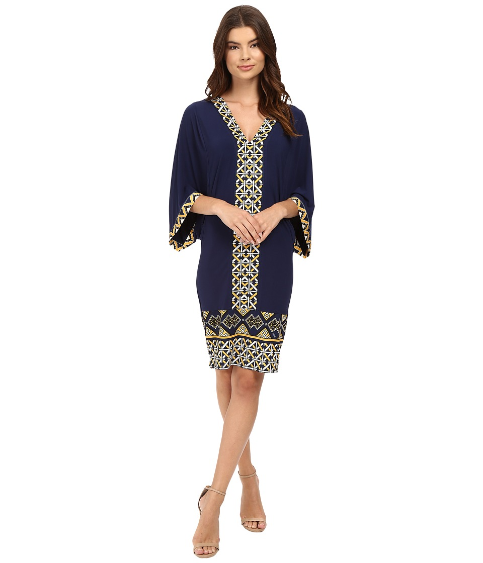 Hale Bob - Avant Garden Envelope Sleeve Dress (Navy) Women's Dress
