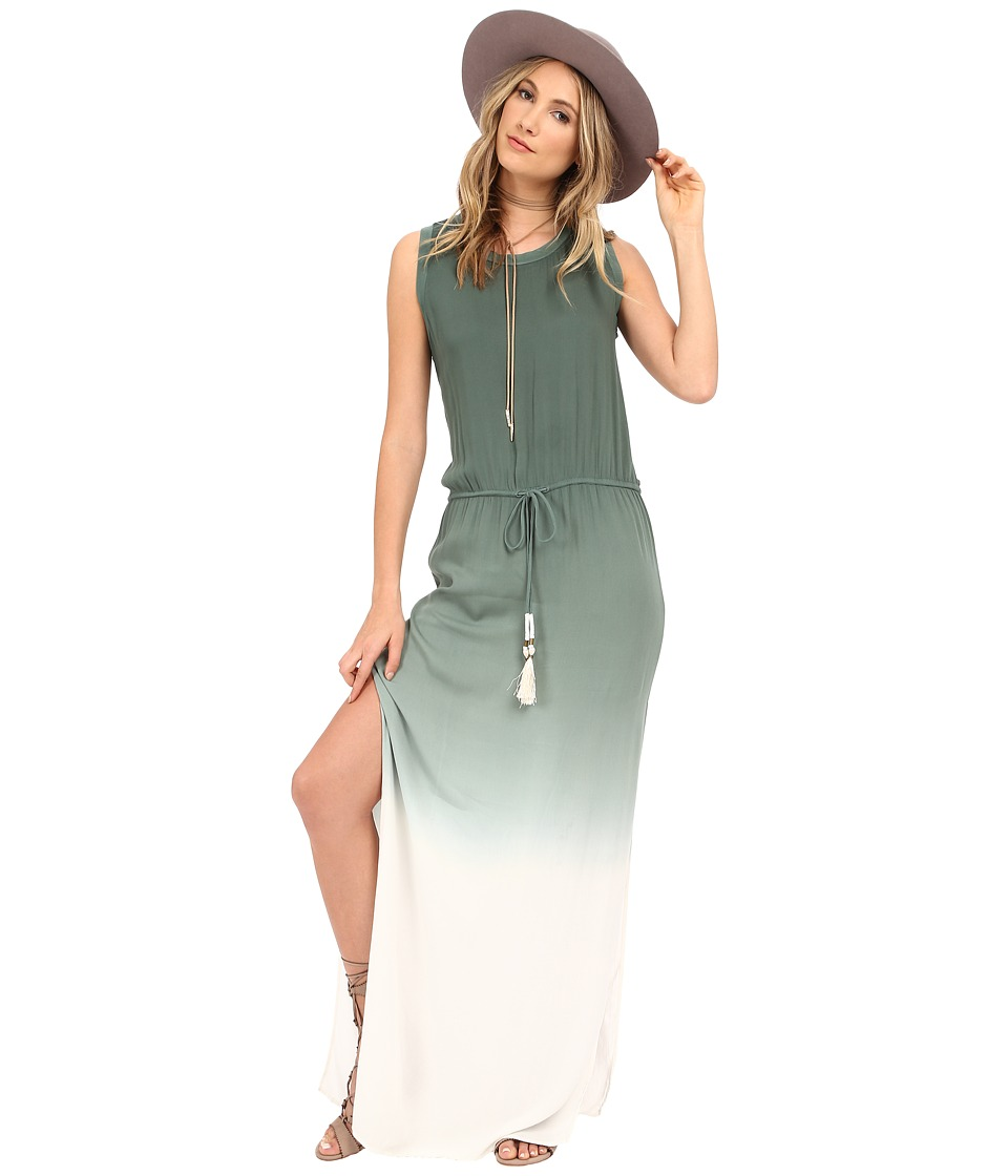 Young Fabulous & Broke - Leah Maxi (Olive Ombre) Women's Dress