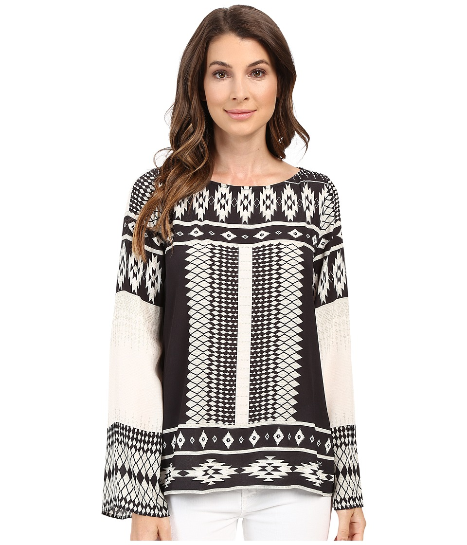 Hale Bob - The Bohemian Beat Long Sleeve Top (Beige) Women's Long Sleeve Pullover