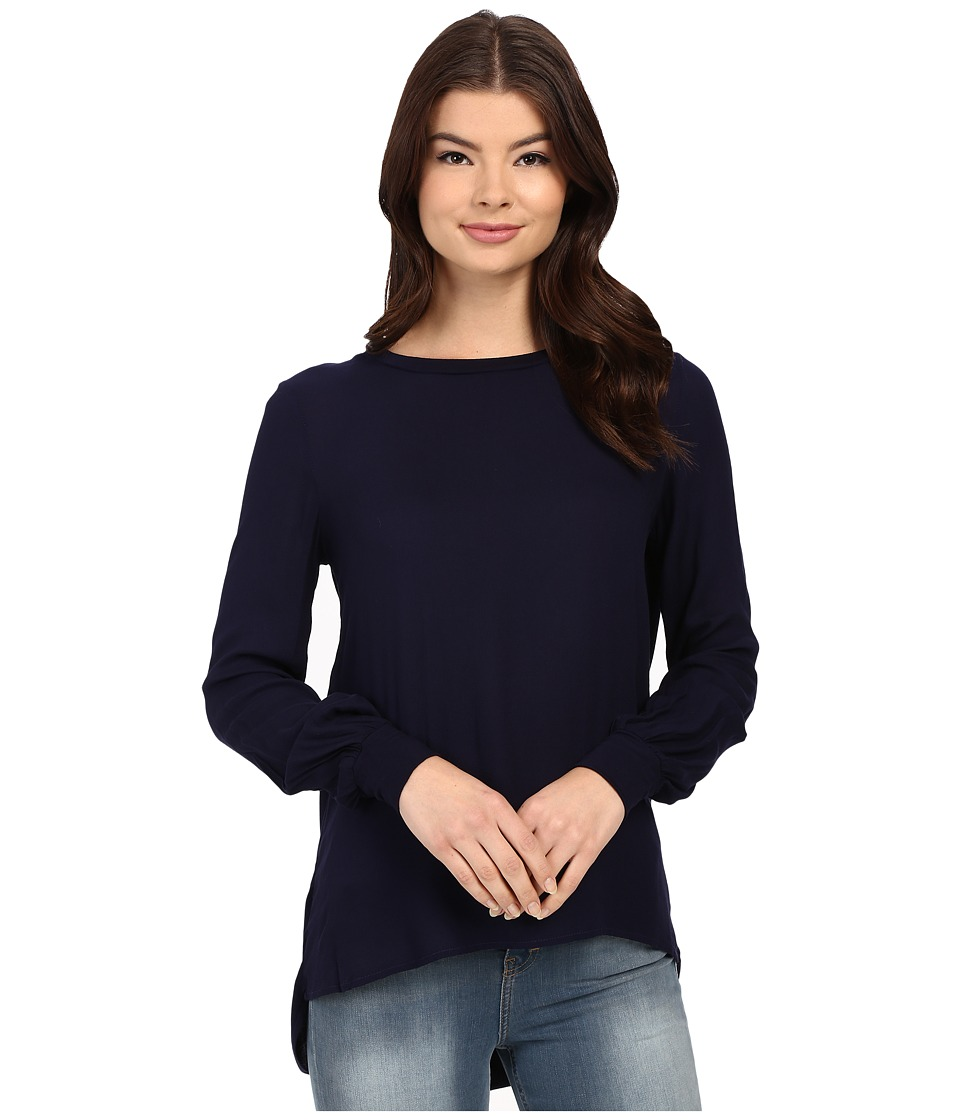 Young Fabulous & Broke - Leah Top (Navy Ombre) Women's Blouse