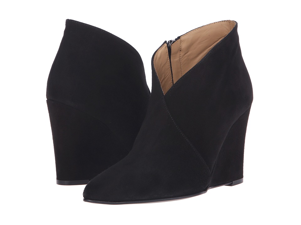 Massimo Matteo - Wedge Bootie (Black) Women's Boots