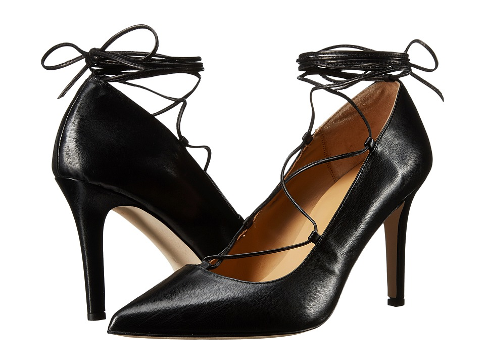Massimo Matteo - Pump with Ankle Lace (Black) High Heels
