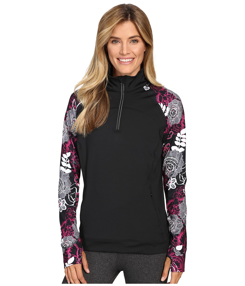 Skirt Sports - Tough Chick Top (Black/Enchanted Print) Women's Long Sleeve Pullover