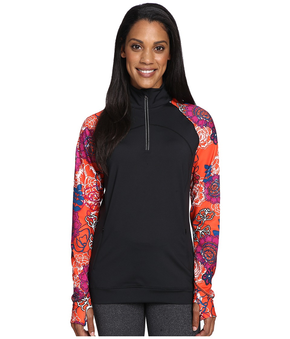 Skirt Sports - Tough Chick Top (Black/Frolic Print) Women's Long Sleeve Pullover