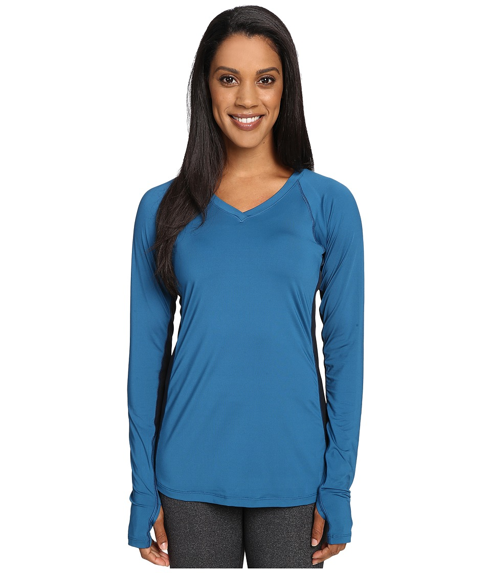Skirt Sports - Free Flow Long Sleeve (Brilliant Blue/Black) Women's Clothing