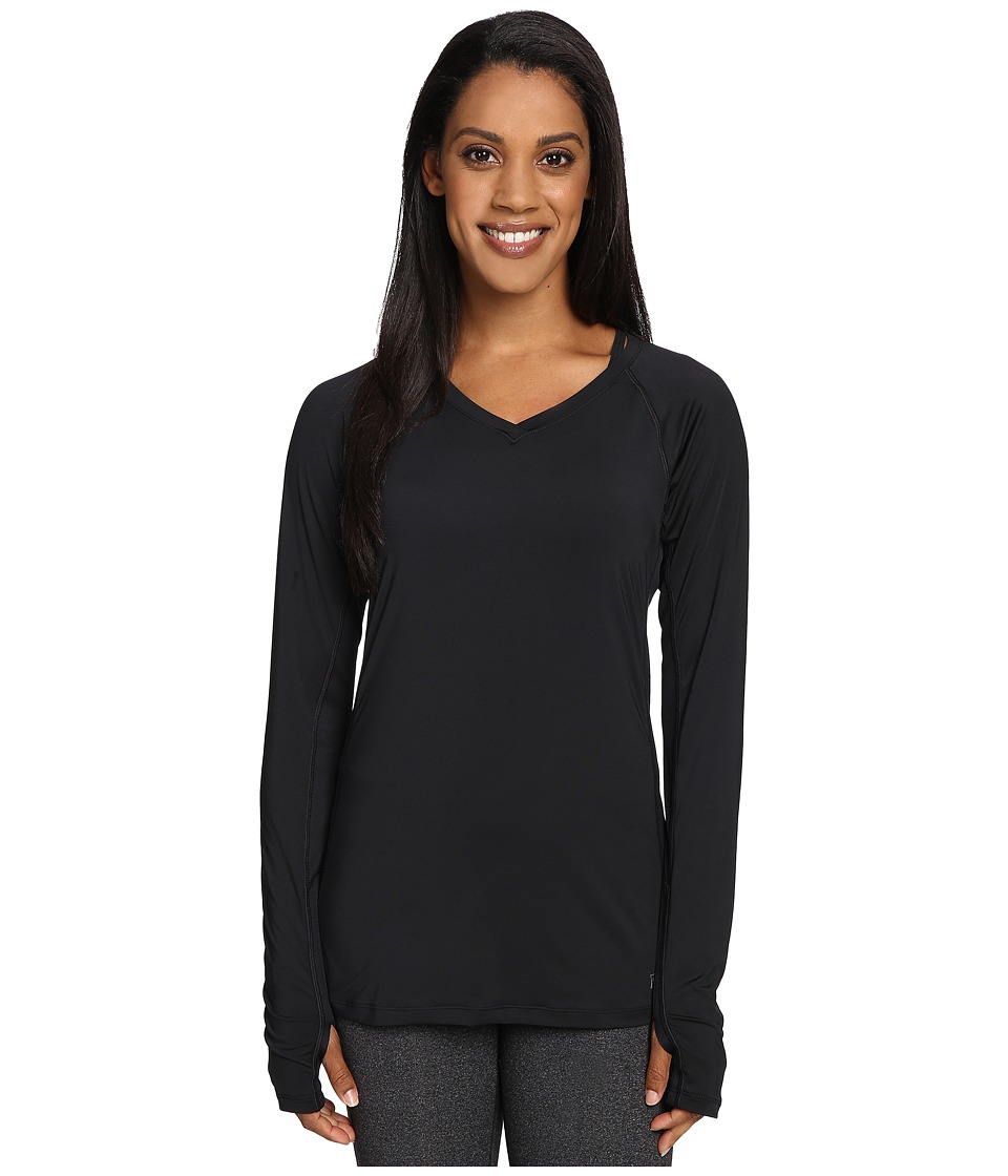 Skirt Sports - Free Flow Long Sleeve (Black) Women's Clothing