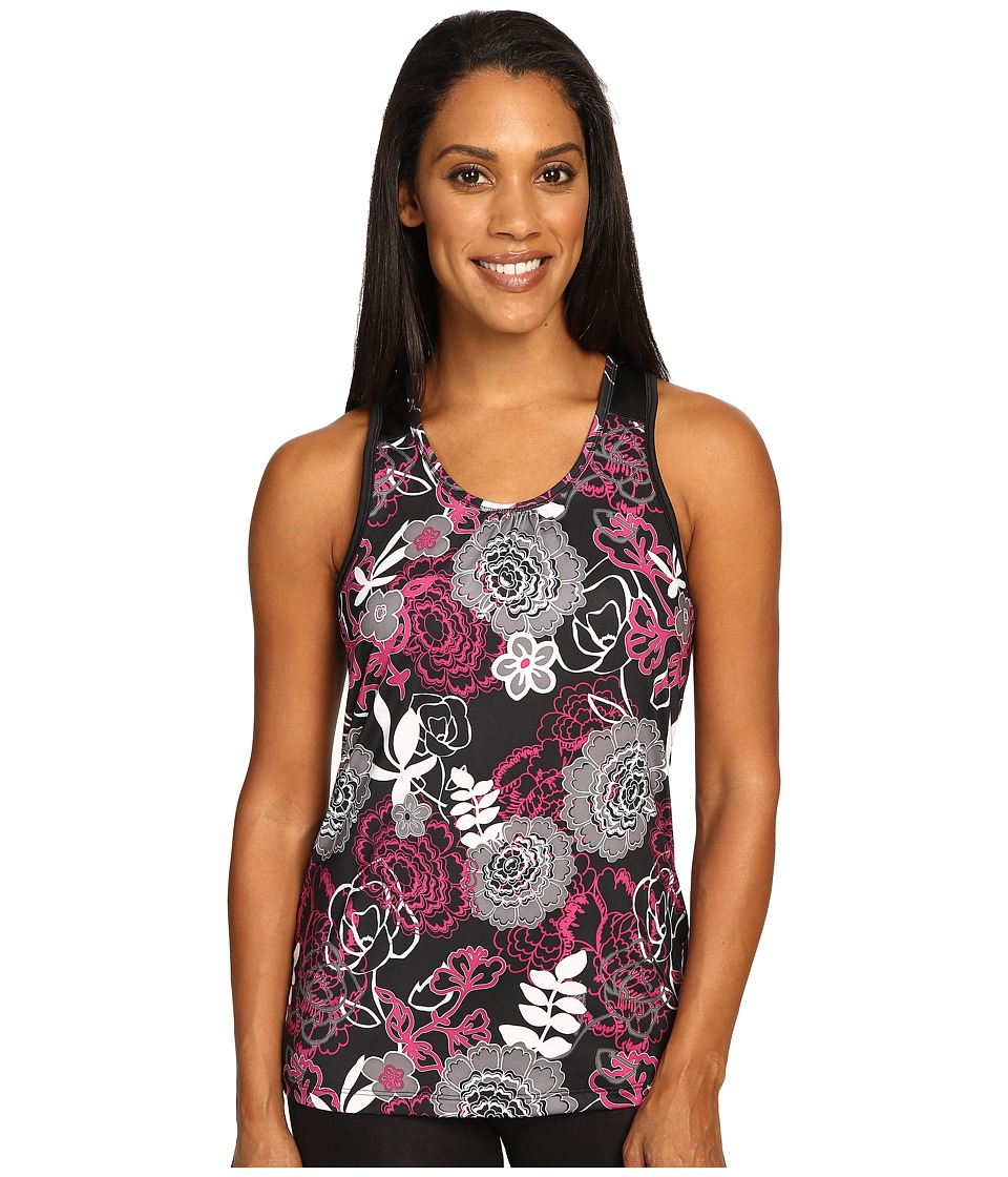 Skirt Sports - Free Flow Tank Top (Enchanted Print/Black) Women's Sleeveless